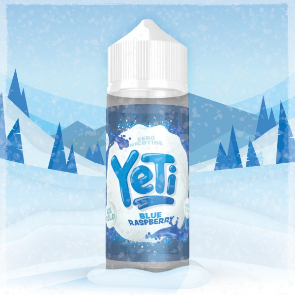 Yeti - Blue Raspberry 0mg/ml 100ml Shortfill